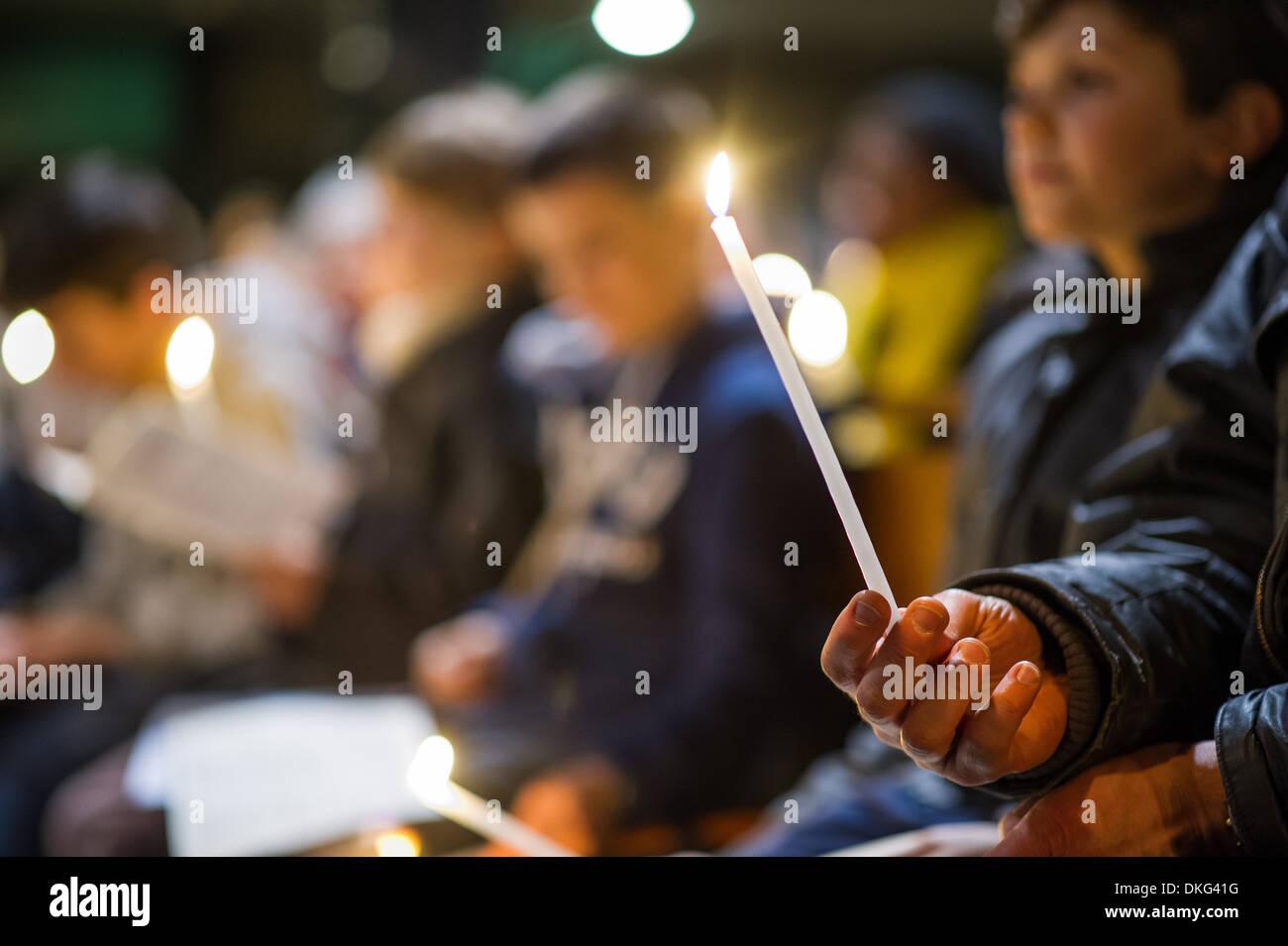 Vigil on Holy Saturday of Holy Week, Paris, France, Europe - Stock Image