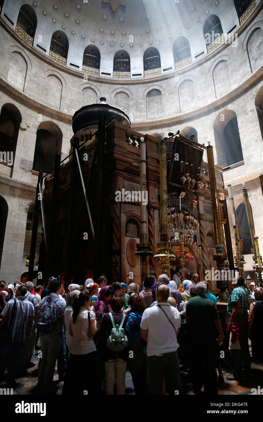 Anastasis, Holy Sepulchre Church, Jerusalem, Israel, Middle East Stock Photo