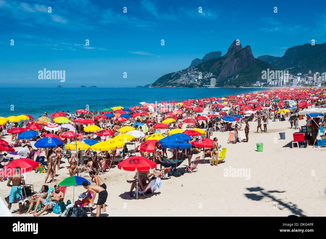 Famous Copacabana, Rio de Janeiro, Brazil, South America Stock Photo