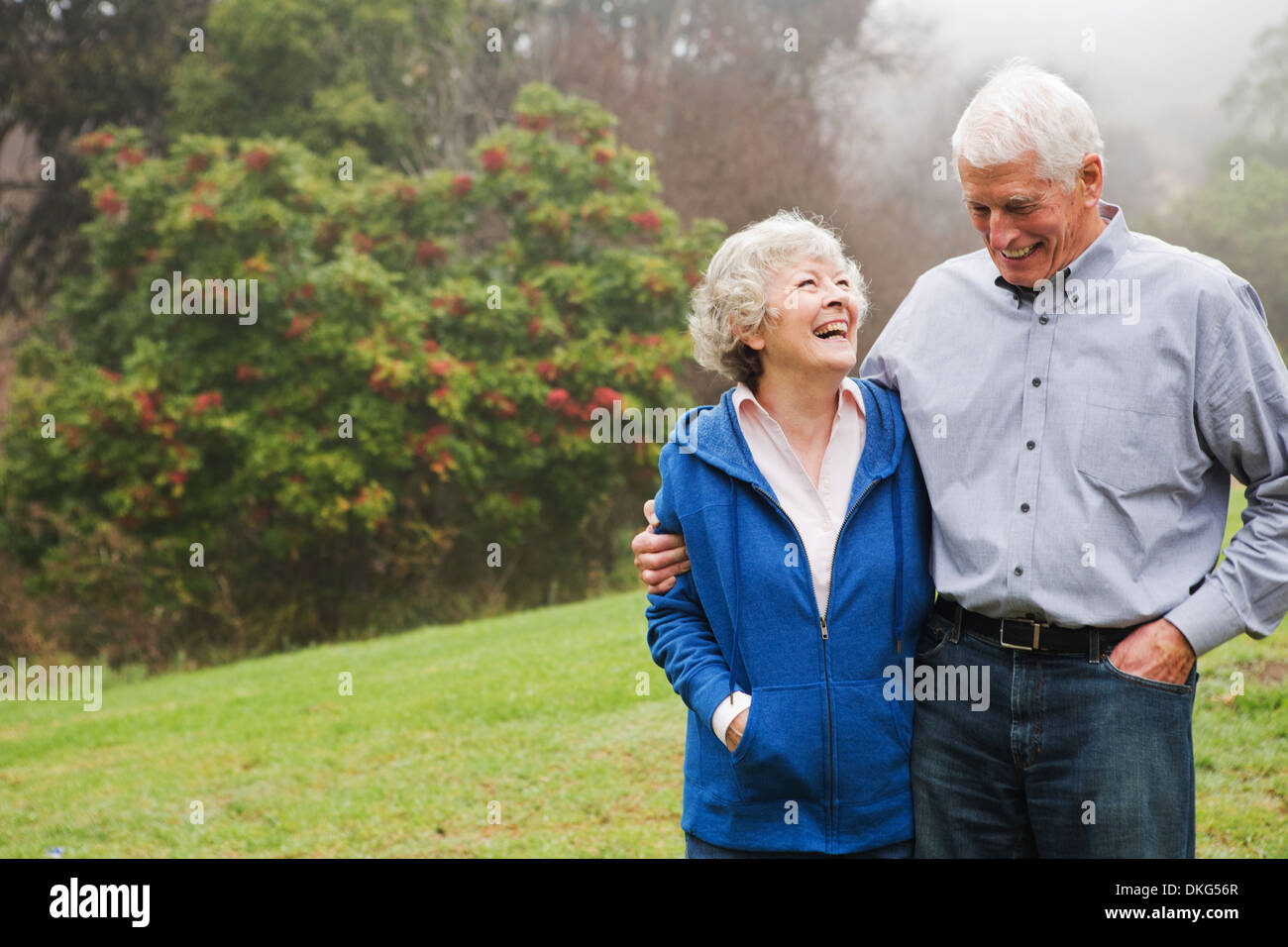 Husband and wife enjoying day out - Stock Image