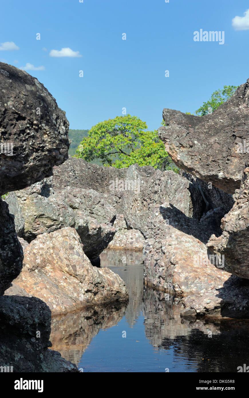 Parque Nacional de Chapada Diamantina, Lencois, Bahia, Brazil: Rio Lencois. - Stock Image
