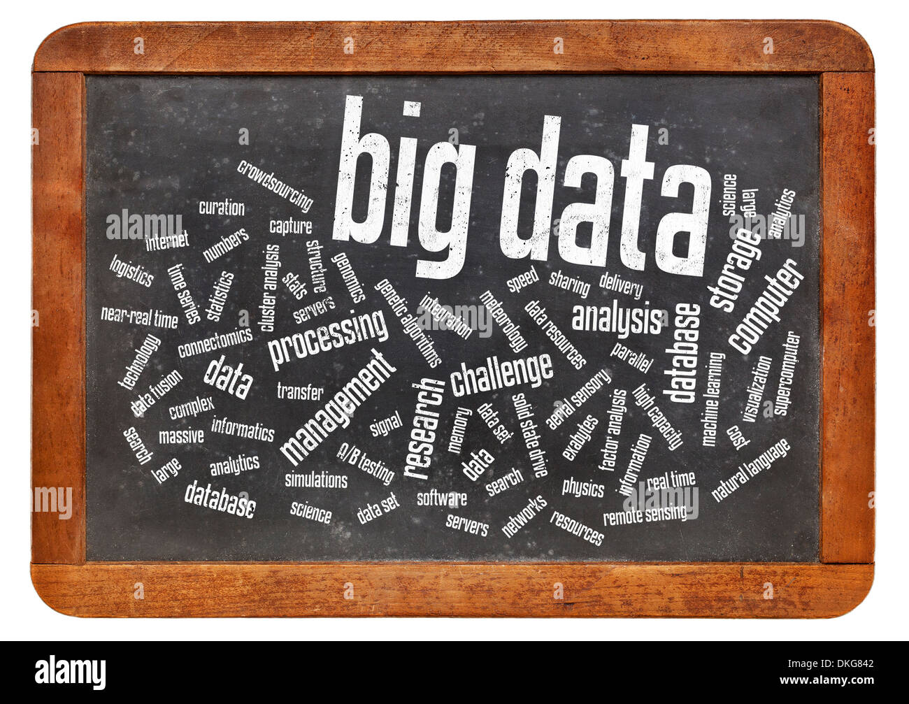 big data word cloud - information technology concept - Stock Image