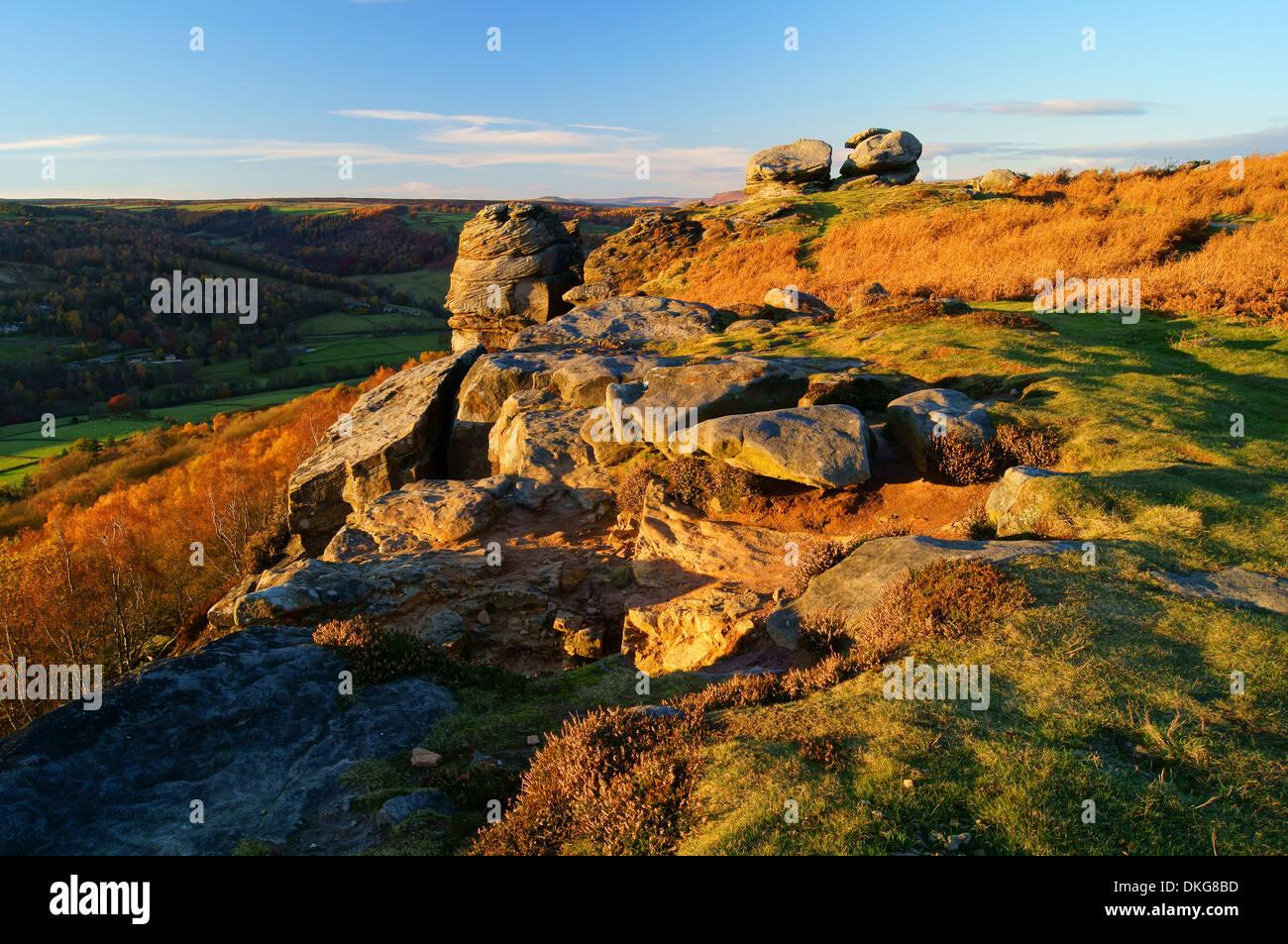 UK,Derbyshire,Peak District,Froggatt Edge - Stock Image