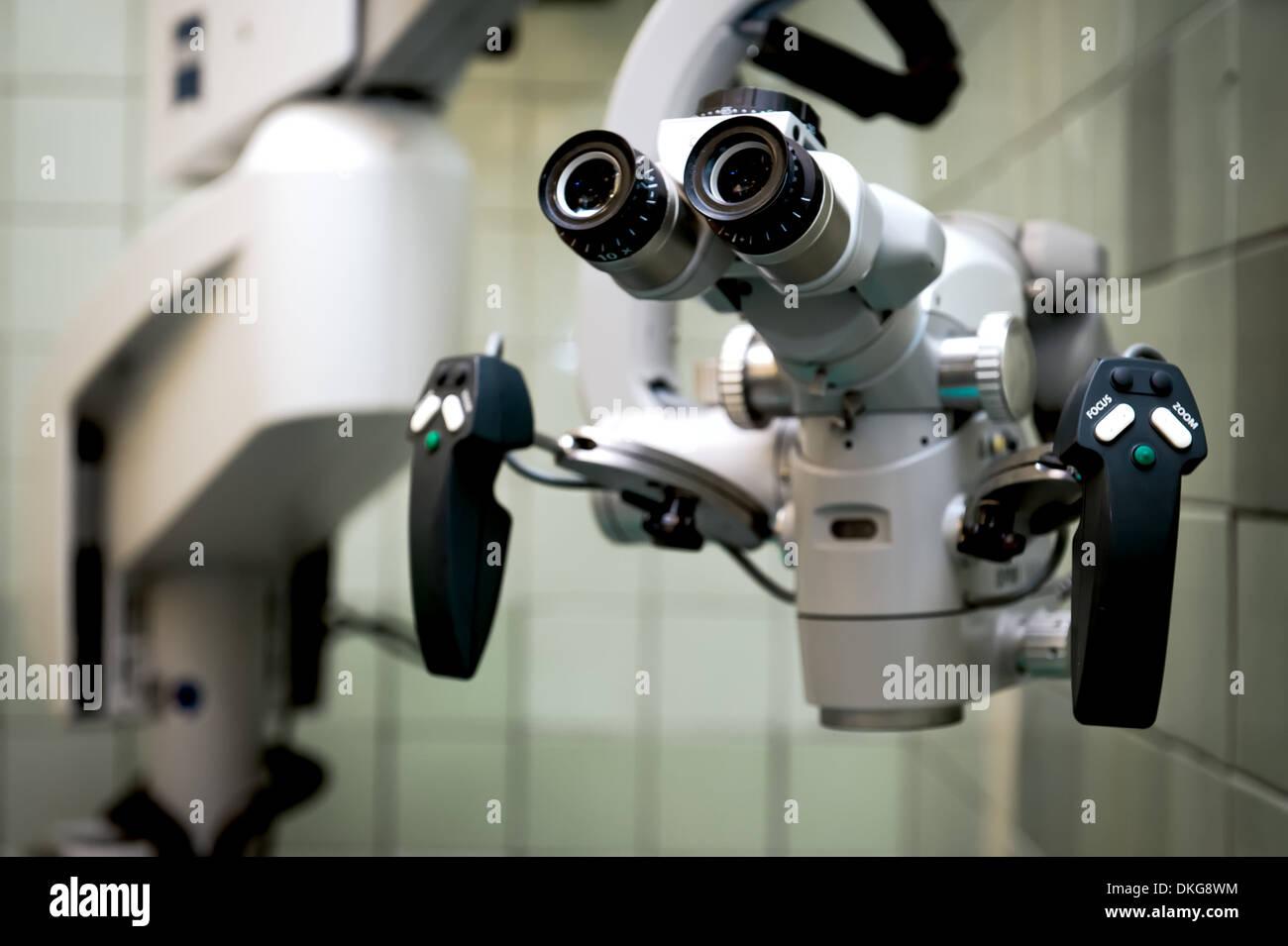 Microscope closeup - Stock Image