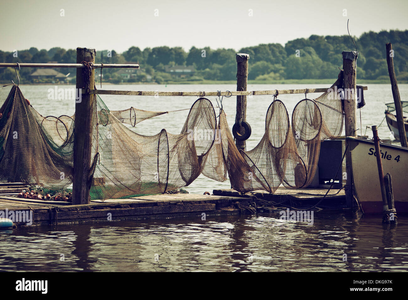 Fisher area Holm, Schlei, Schleswig-Holstein, Germany, Europe - Stock Image