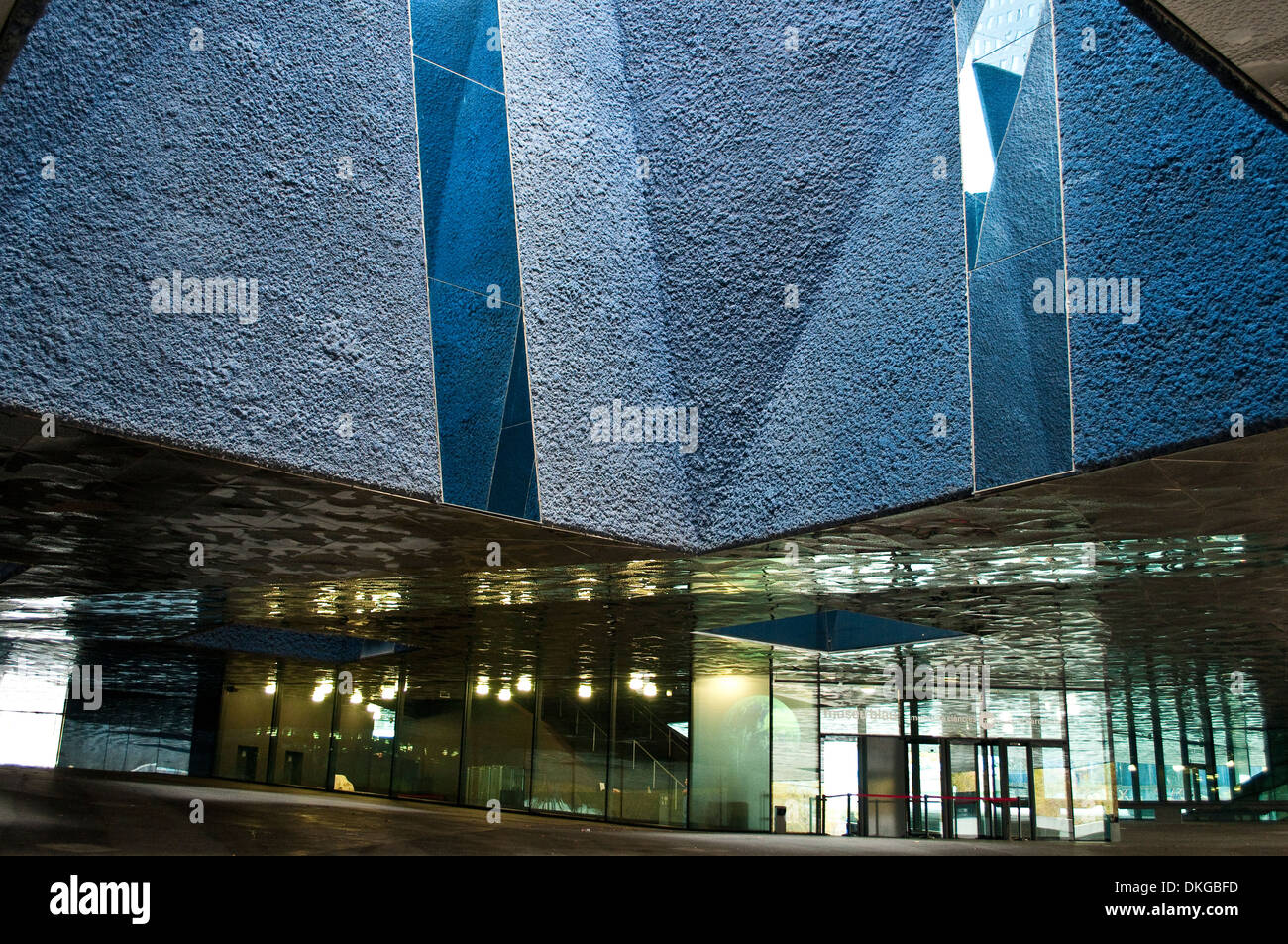 Entrance to Museu Blau - Blue Museum, Natural History and Science Museum, Barcelona, Catalonia, Spain - Stock Image