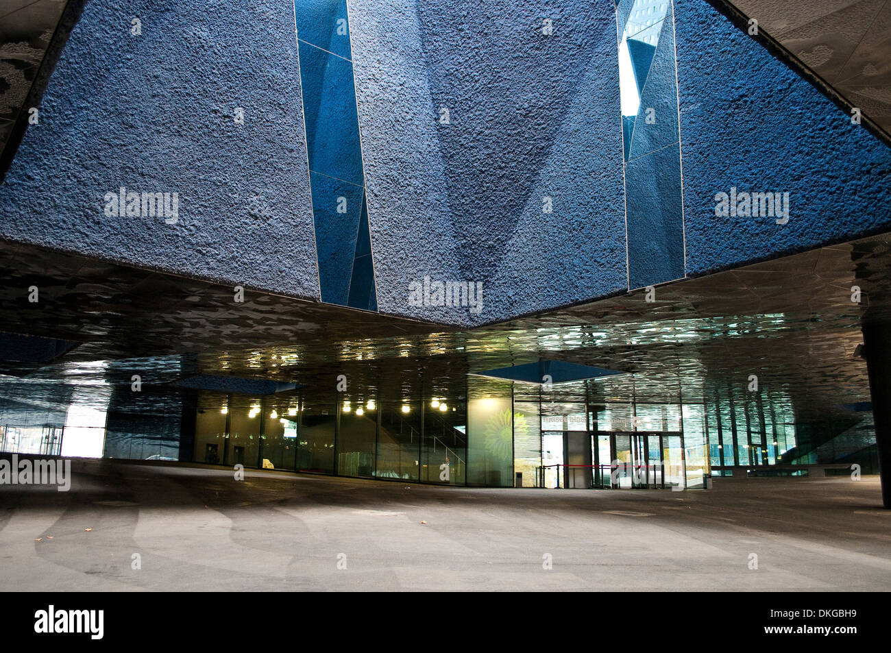 Entrance to Museu Blau - Blue Museum, Natural History and Science Musuem, Barcelona, Catalonia, Spain - Stock Image