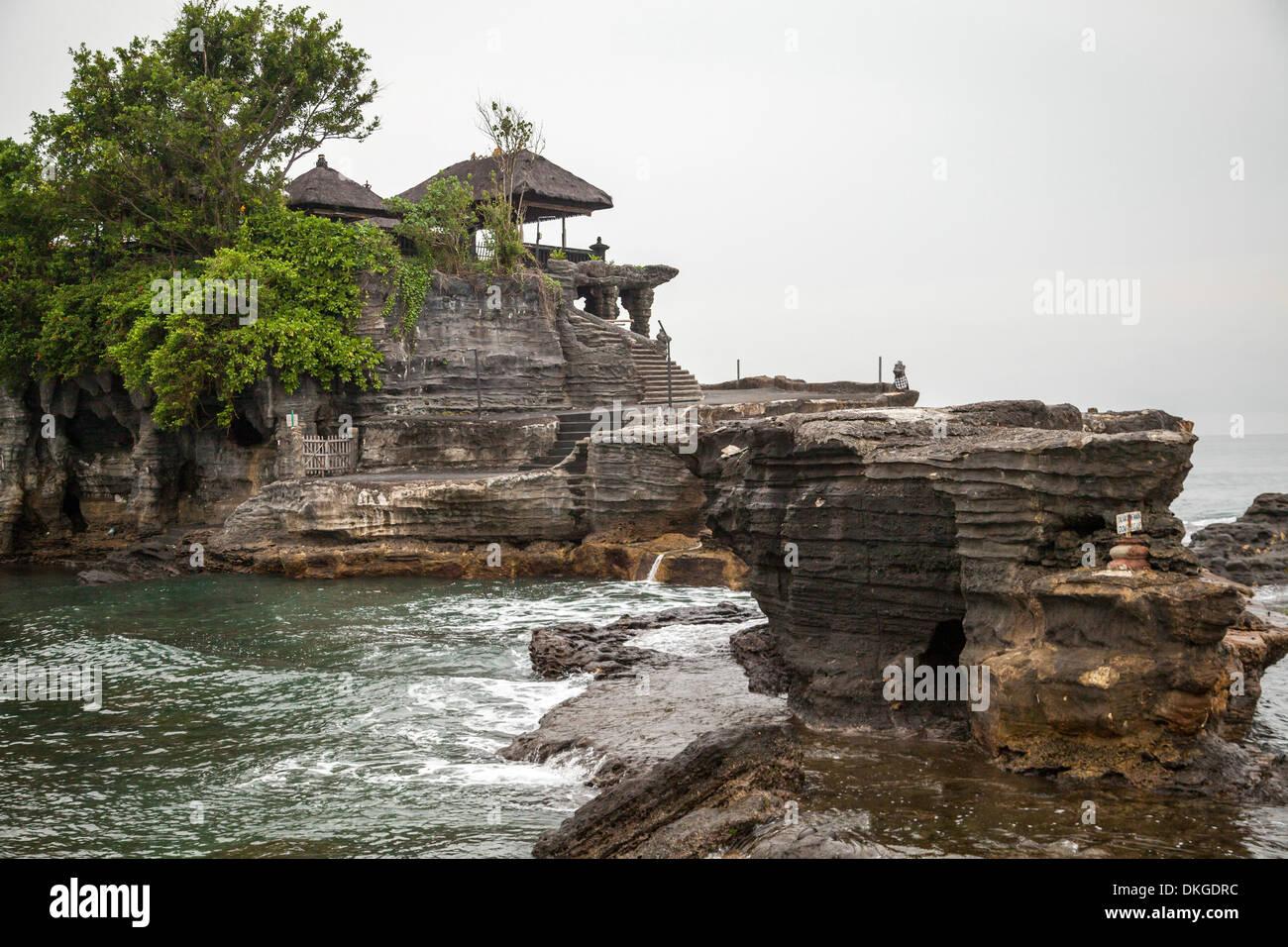 View onto the Temple Pura Tanah Lot, Bali, Indonesia Stock Photo