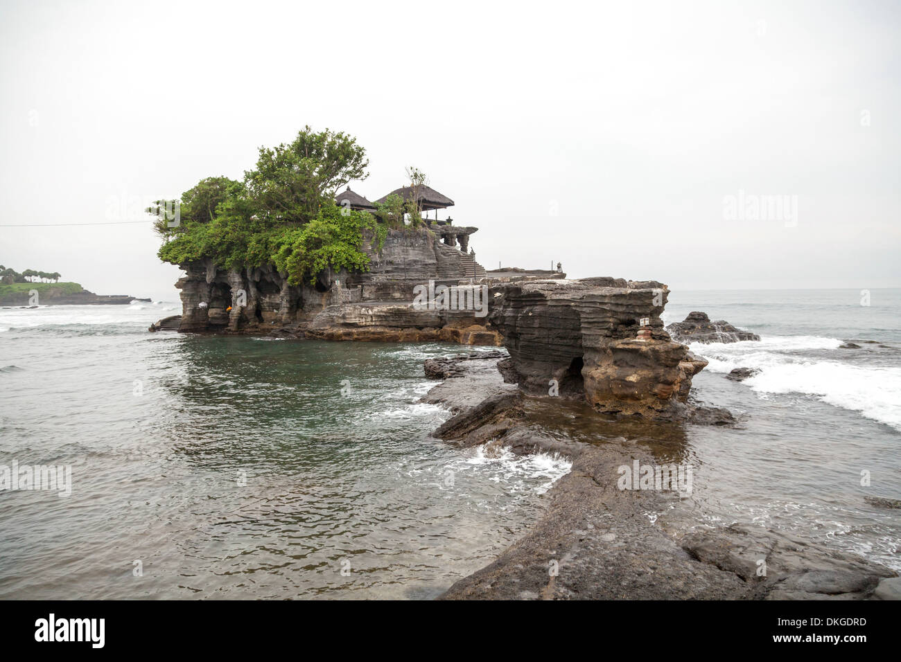 View onto the Temple Pura Tanah Lot, Bali, Indonesia - Stock Image