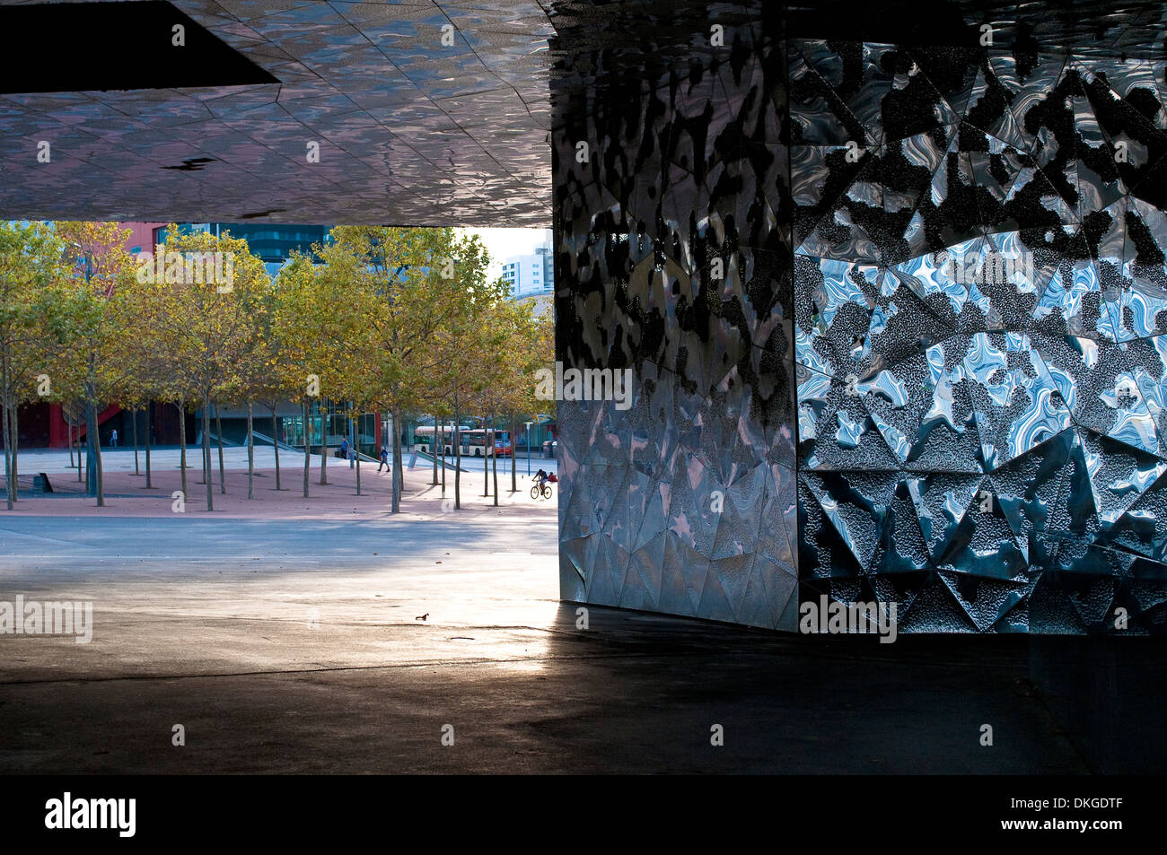 Architectural detail, Museu Blau - Blue Museum, Natural History and Science Museum, Barcelona, Catalonia, Spain - Stock Image