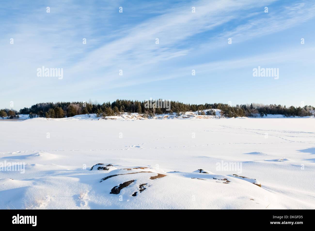 Baltic Sea at winter, Finland Stock Photo