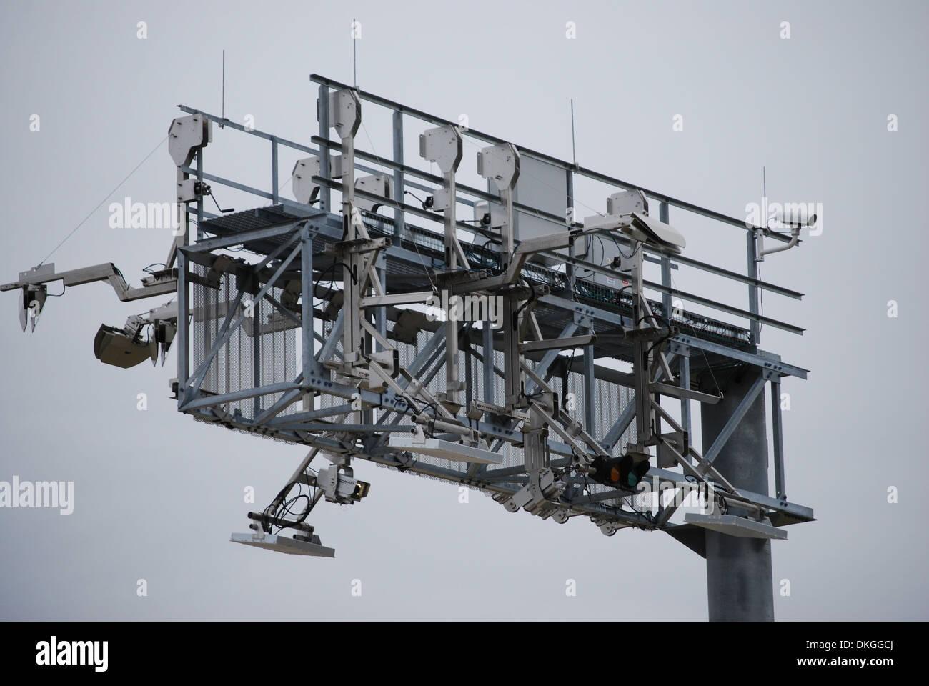 High Tech Tollway Billing - Stock Image
