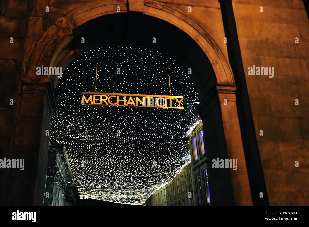 Royal Exchange Square, Merchant City, Glasgow - Stock Image
