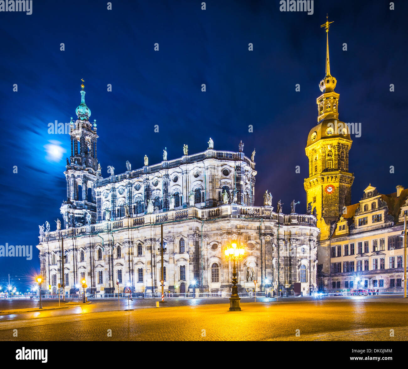 Dresden, Germany from Theatre Square. - Stock Image