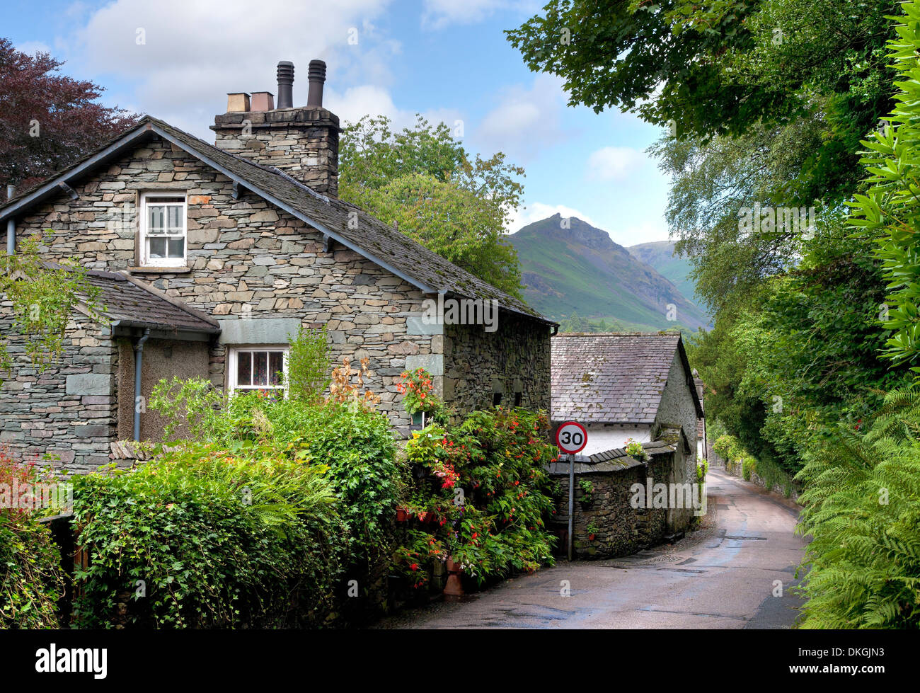 Grasmere village, the Lake District, Cumbria, England. - Stock Image