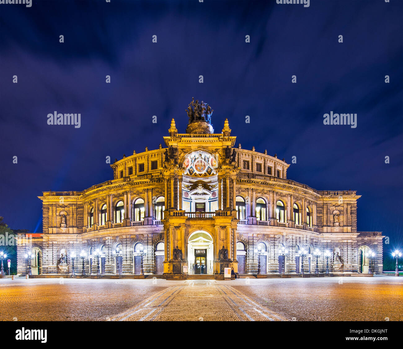 Dresden, Germany at Theaterplatz. - Stock Image