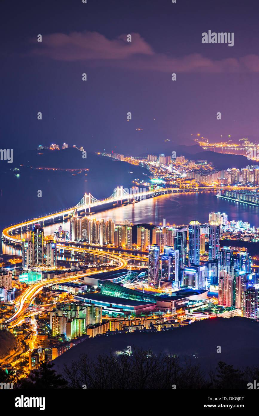 Busan, South Korea skyline. - Stock Image