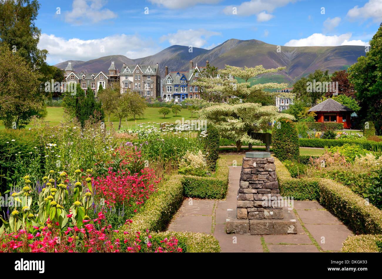 Hope Park, Keswick, the Lake District, Cumbria, England. - Stock Image