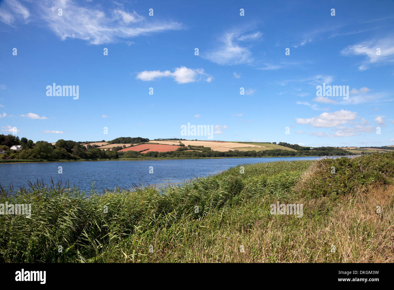 Slapton Ley, the largest freshwater lake in the south west of England, Devon. - Stock Image
