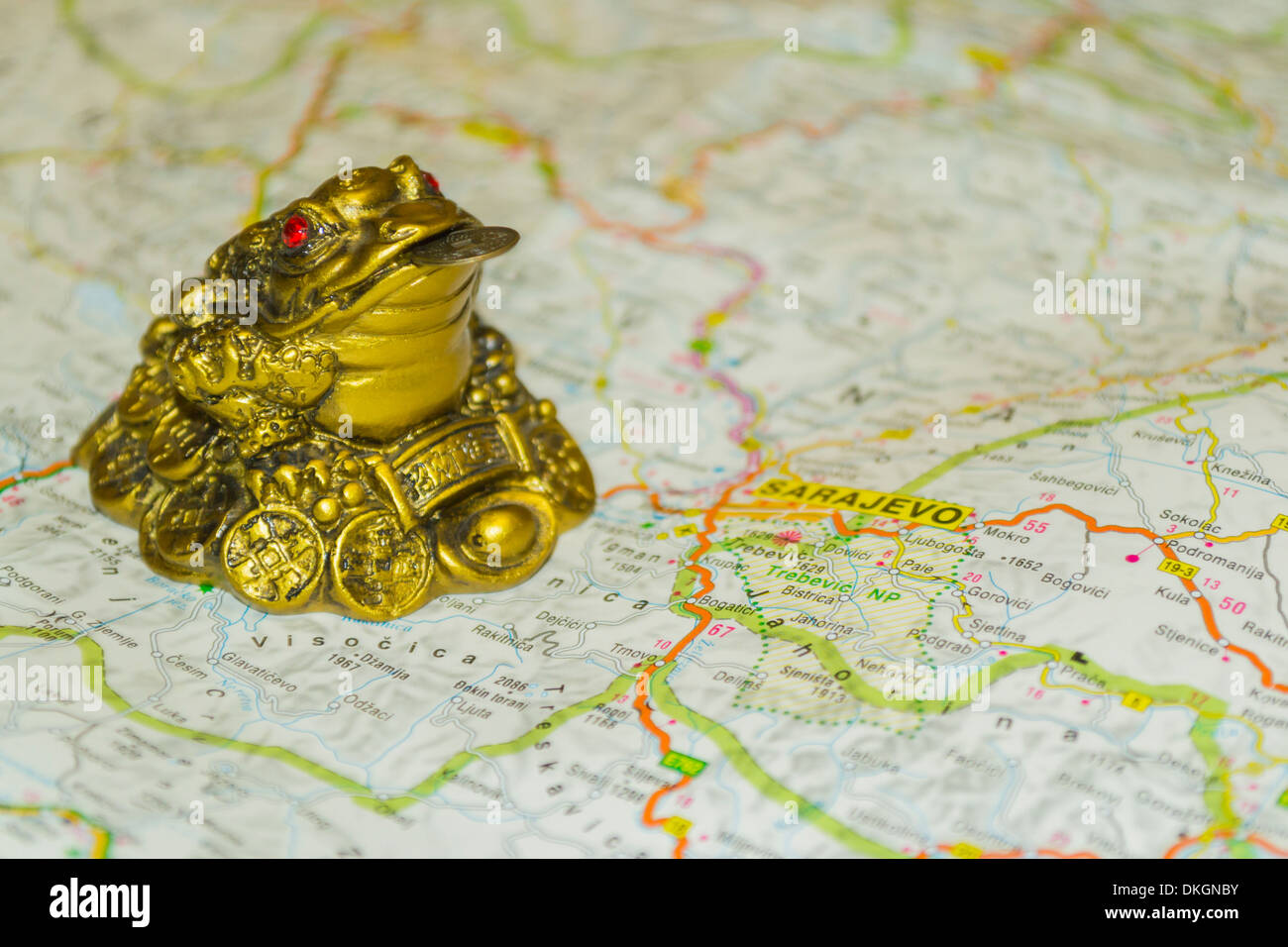 Money toad on map pointing to Sarajevo, capital of Bosnia ... on vienna on map, serbia on map, skopje on map, belgrade on map, belfast on map, stockholm on map, budapest on map, warsaw on map, prague on map, tallinn on map, sofia on map, rome on map, dardanelles on map, western front on map, oslo on map, constantinople on map, zagreb on map, moscow on map, bosnia on map, london on map,