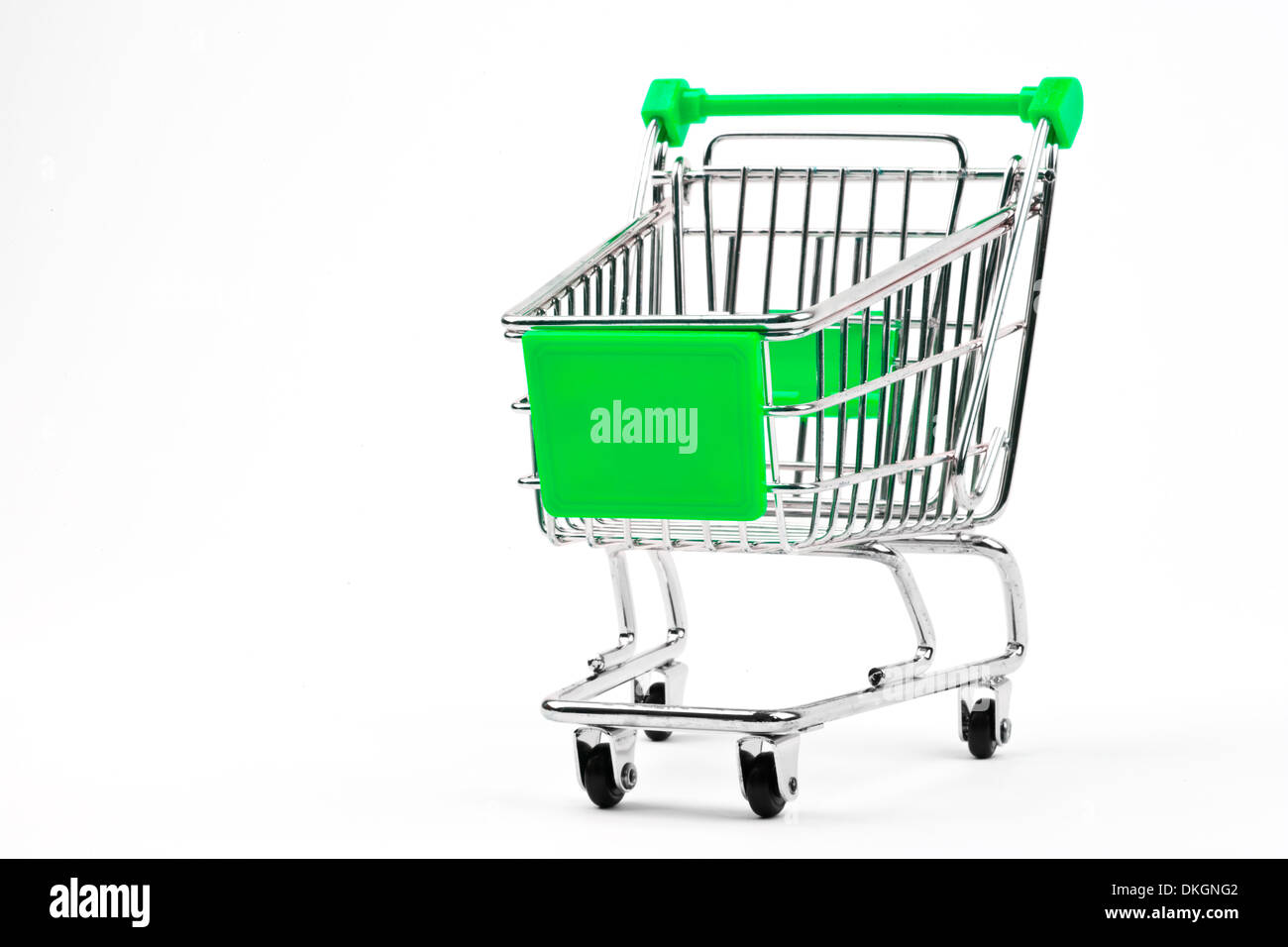 Shopping Trolley over a plain white background. Stock Photo