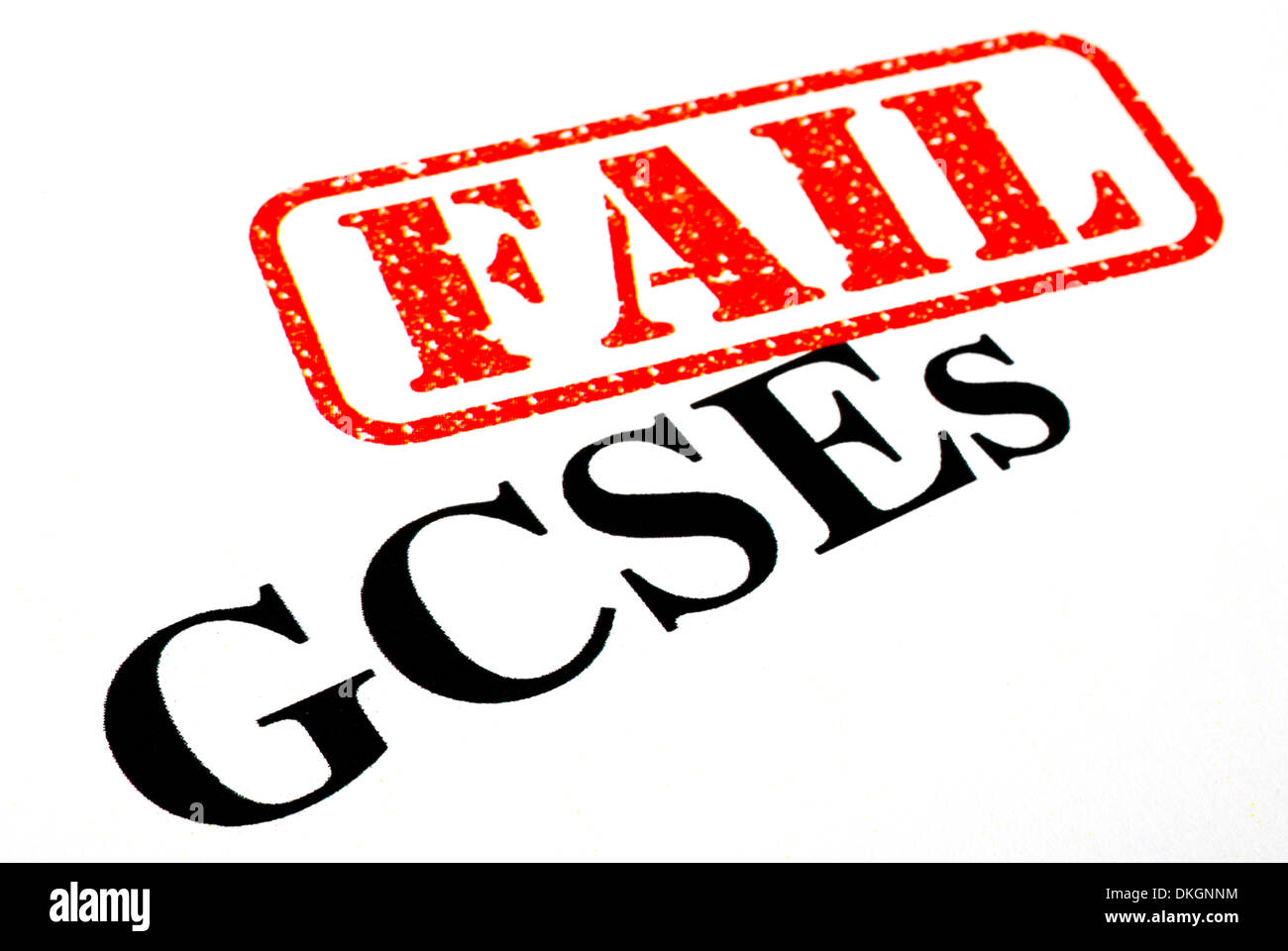 Failed your GCSE exams. - Stock Image