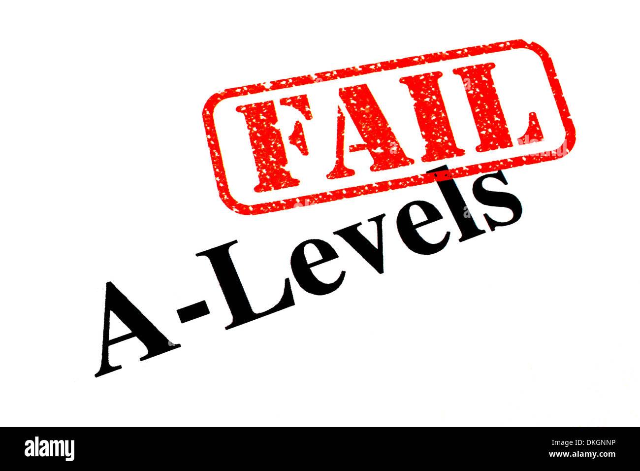 Failed A-Level Exams. - Stock Image
