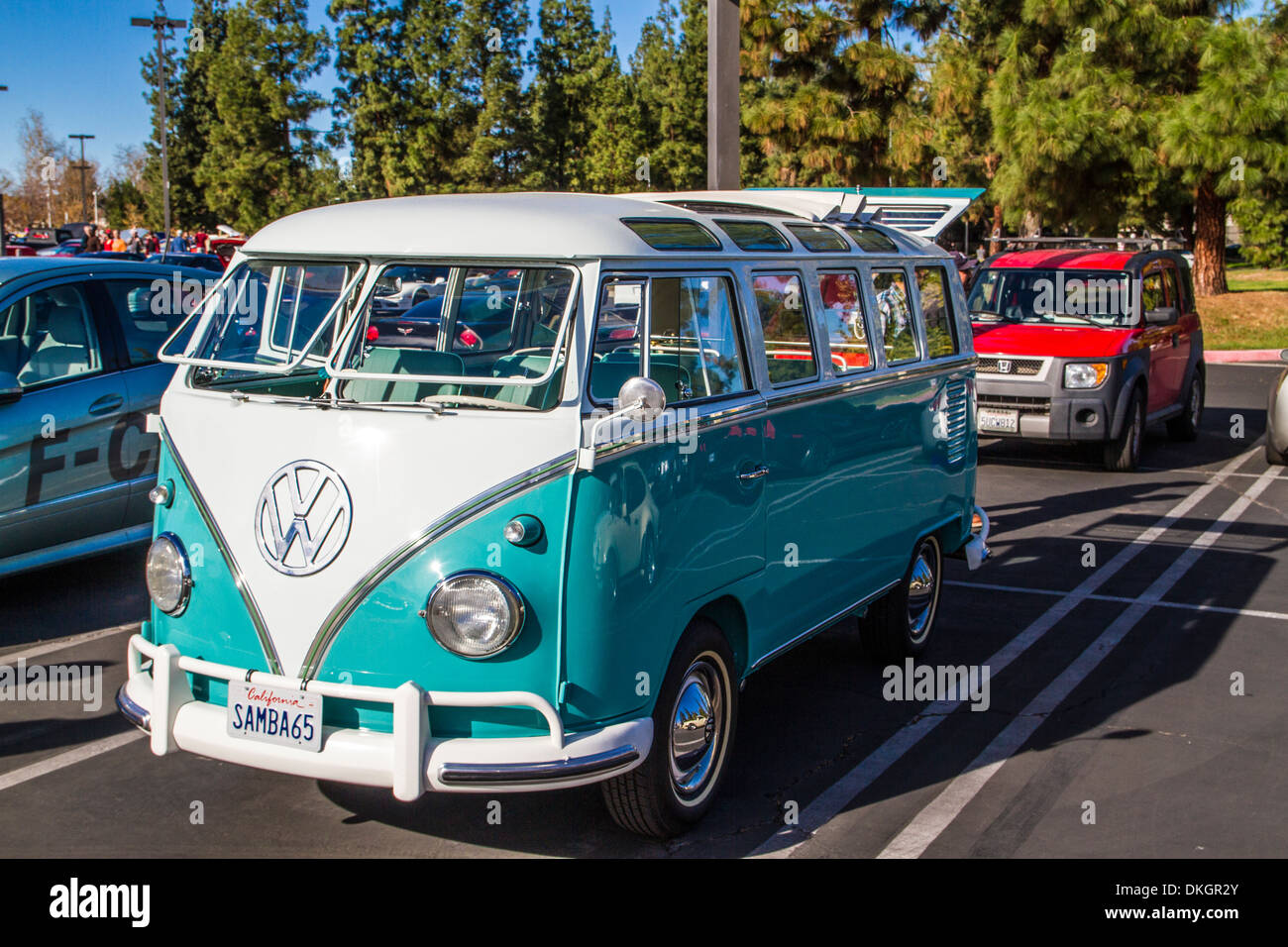 A Restored 1960s Volkswagen Bus At The Motor4toys Event In Woodland Hills California
