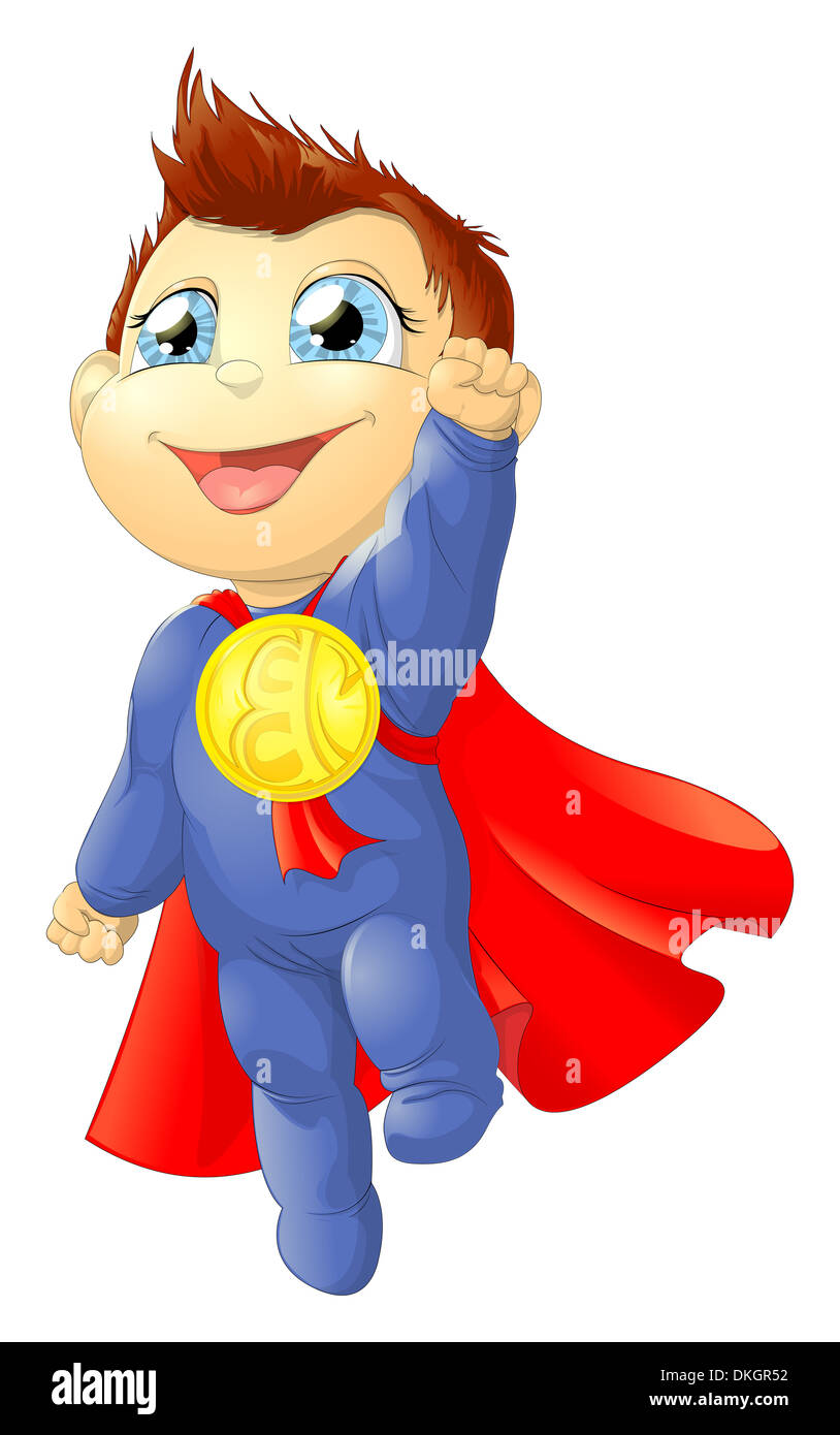 the little flying super kid Stock Photo: 63678974 - Alamy