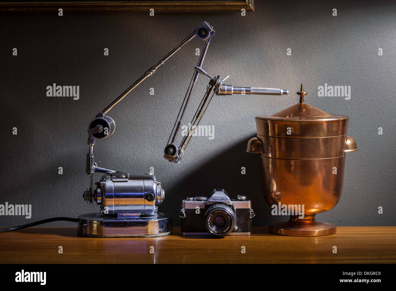 Dutch style still life with vintage objects - Stock Image