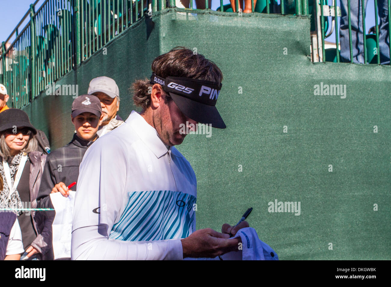 Bubba Watson at the 2013 Northwestern Mutual Challenge at Sherwood Country Club in Thousand Oaks California - Stock Image