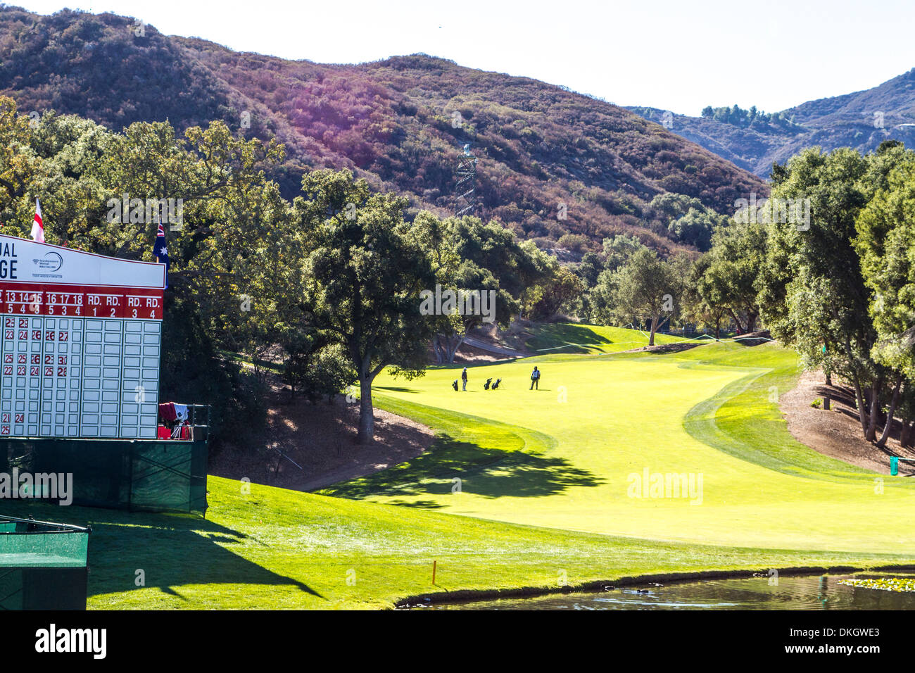 The 18th Hole 2013 Northwestern Mutual Challenge at Sherwood Country Club in Thousand Oaks California - Stock Image