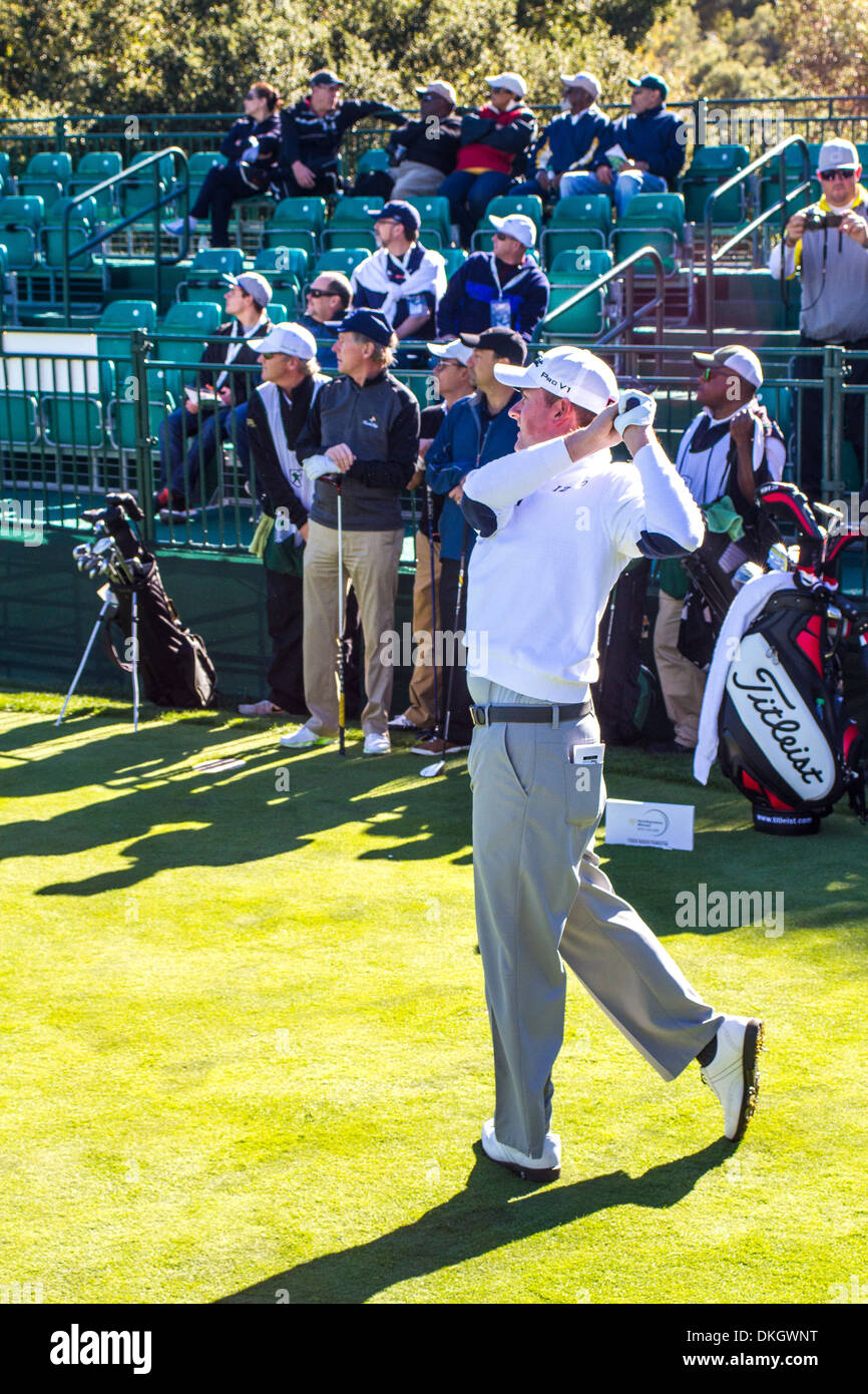 Webb Simpson at the 2013 Northwestern Mutual Challenge at Sherwood Country Club in Thousand Oaks California - Stock Image