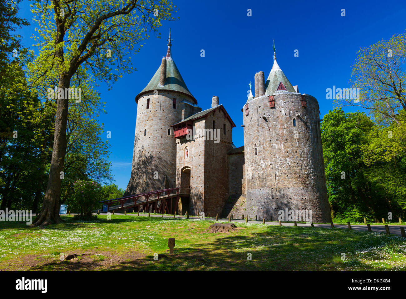 Castell Coch (Castle Coch) (The Red Castle), Tongwynlais, Cardiff, Wales, United Kingdom, Europe - Stock Image
