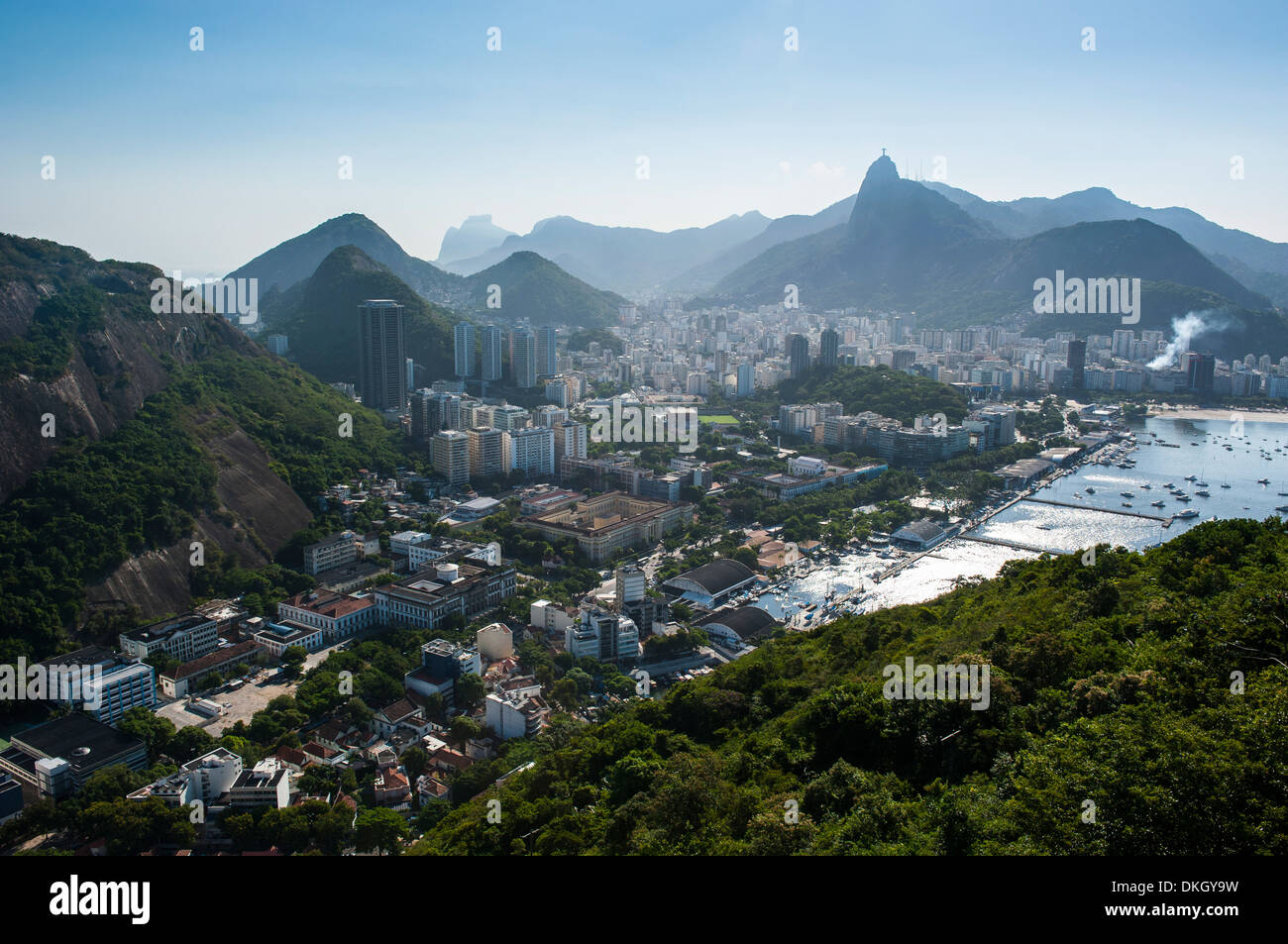 View from the Sugarloaf over Rio de Janeiro, Brazil, South America - Stock Image