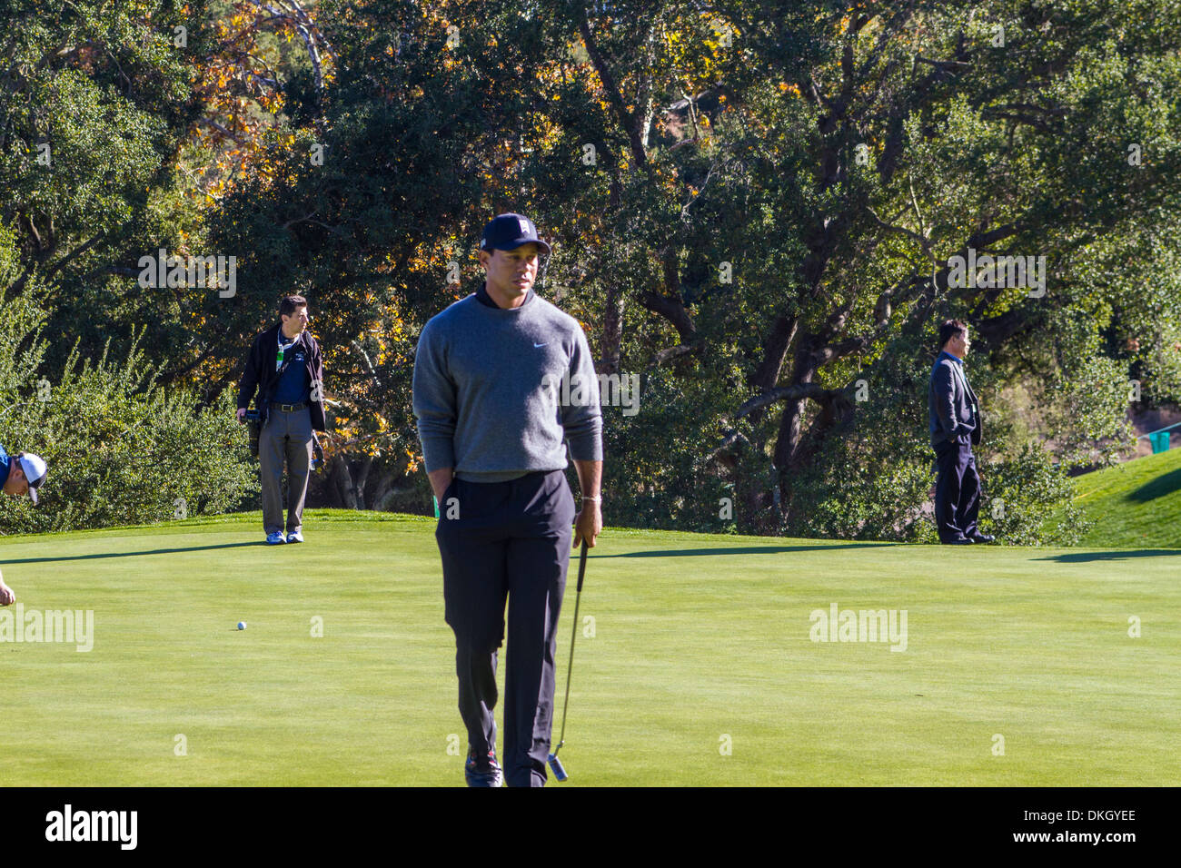 Tiger Woods at the 2013 Northwestern Mutual Challenge at Sherwood Country Club in Thousand Oaks California - Stock Image