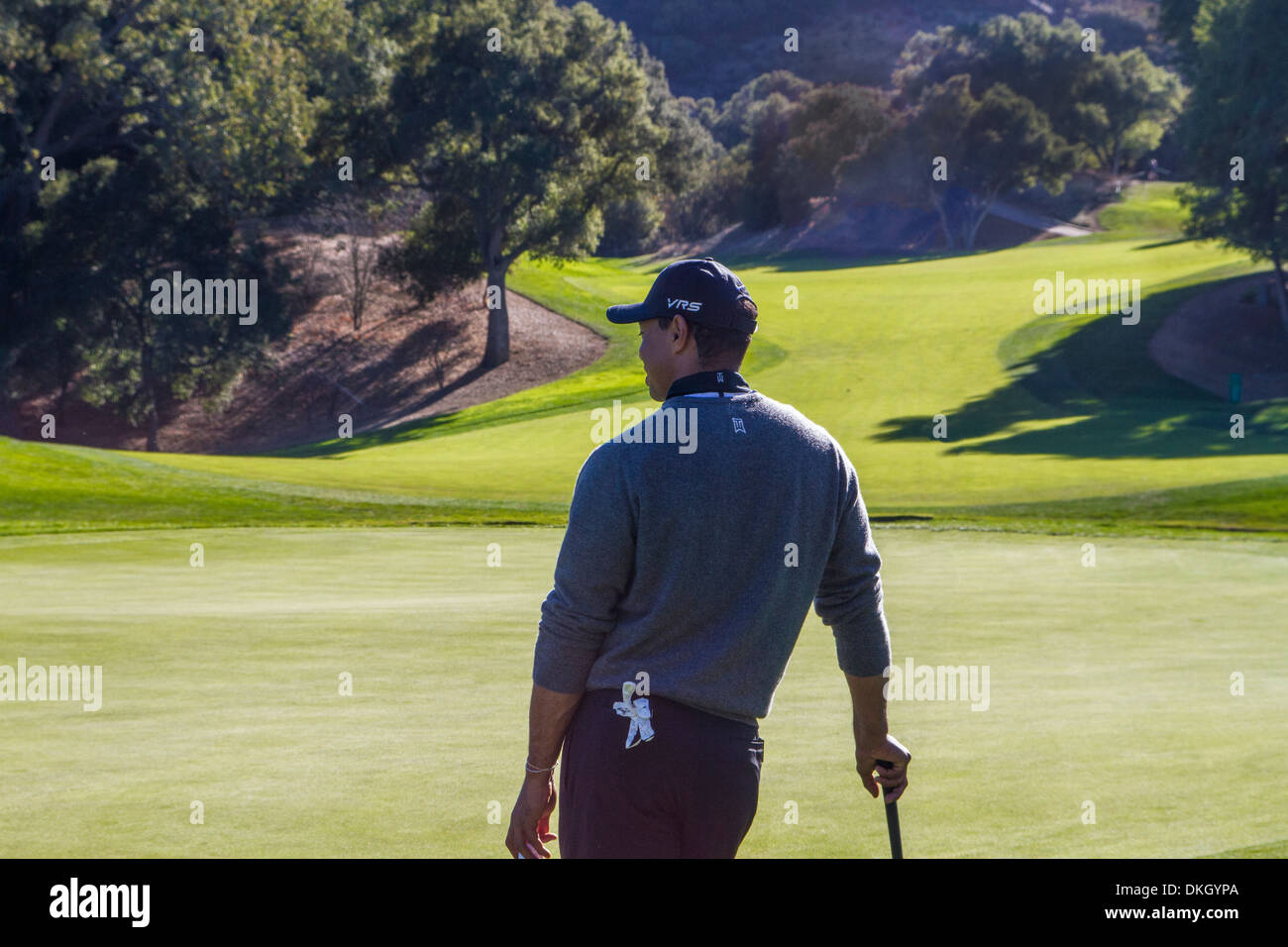 Tiger Woods at the 2013 Northwestern Mutual Challenge at Sherwood Country Club in Thousand Oaks California Dec 4 2013 - Stock Image