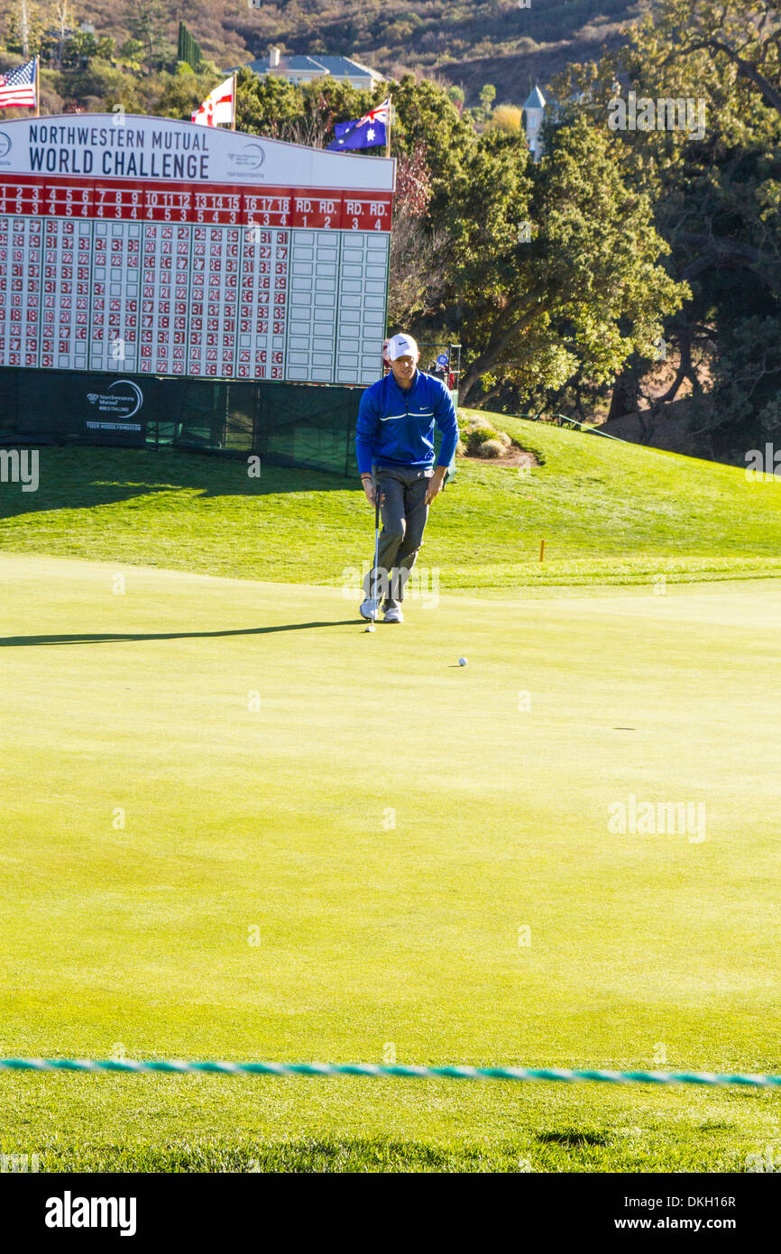 Rory McIlroy at the 2013 Northwestern Mutual Challenge at Sherwood Country Club in Thousand Oaks California - Stock Image