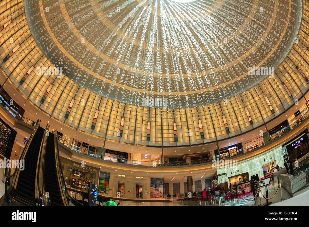 Designer boutiques, Dubai Mall, Dubai, United Arab Emirates, Middle East - Stock Image