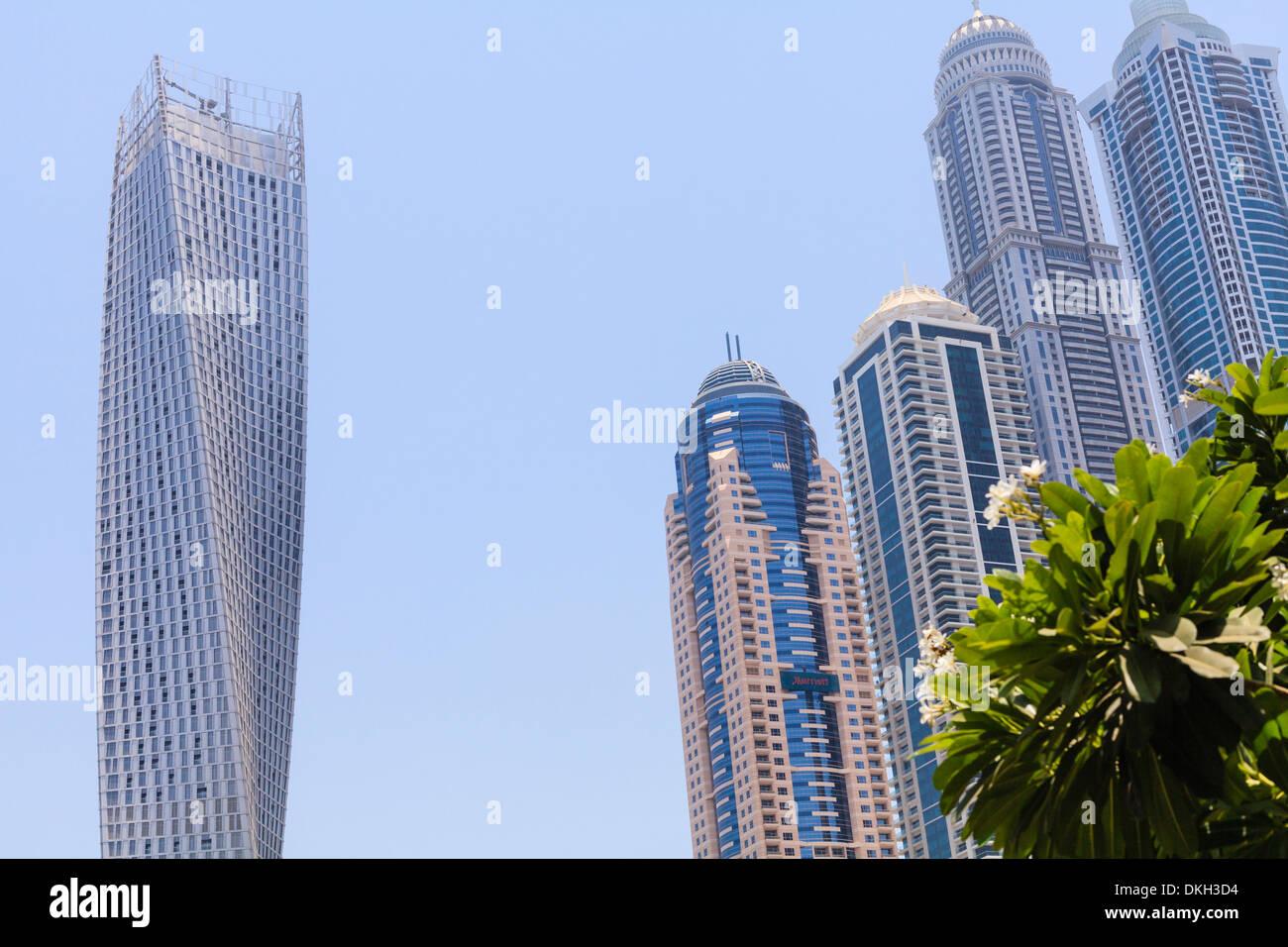 Cayan Tower, Dubai Marina, Dubai, United Arab Emirates, Middle East - Stock Image