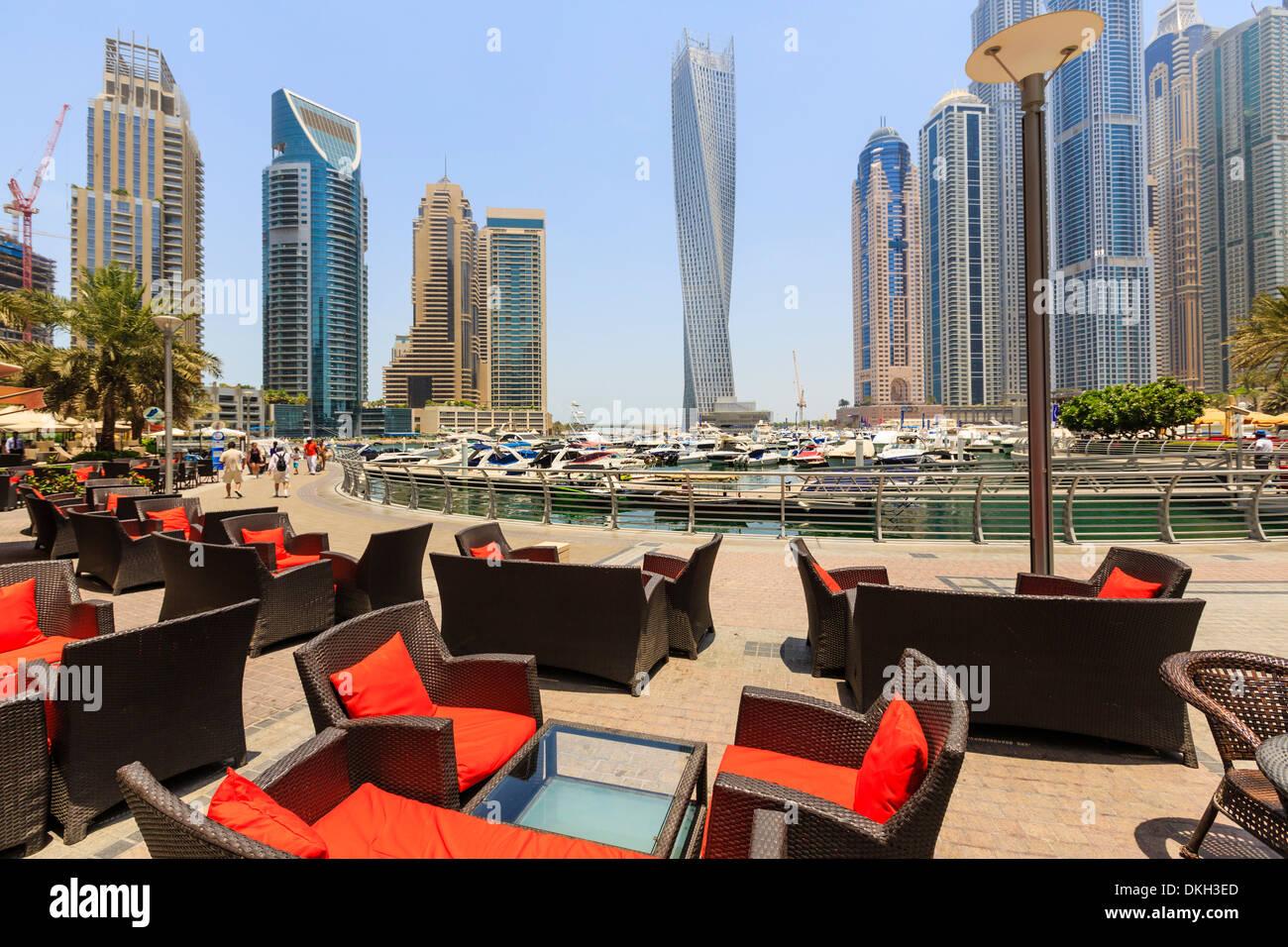 Cayan Tower in Dubai Marina, Dubai, United Arab Emirates, Middle East - Stock Image
