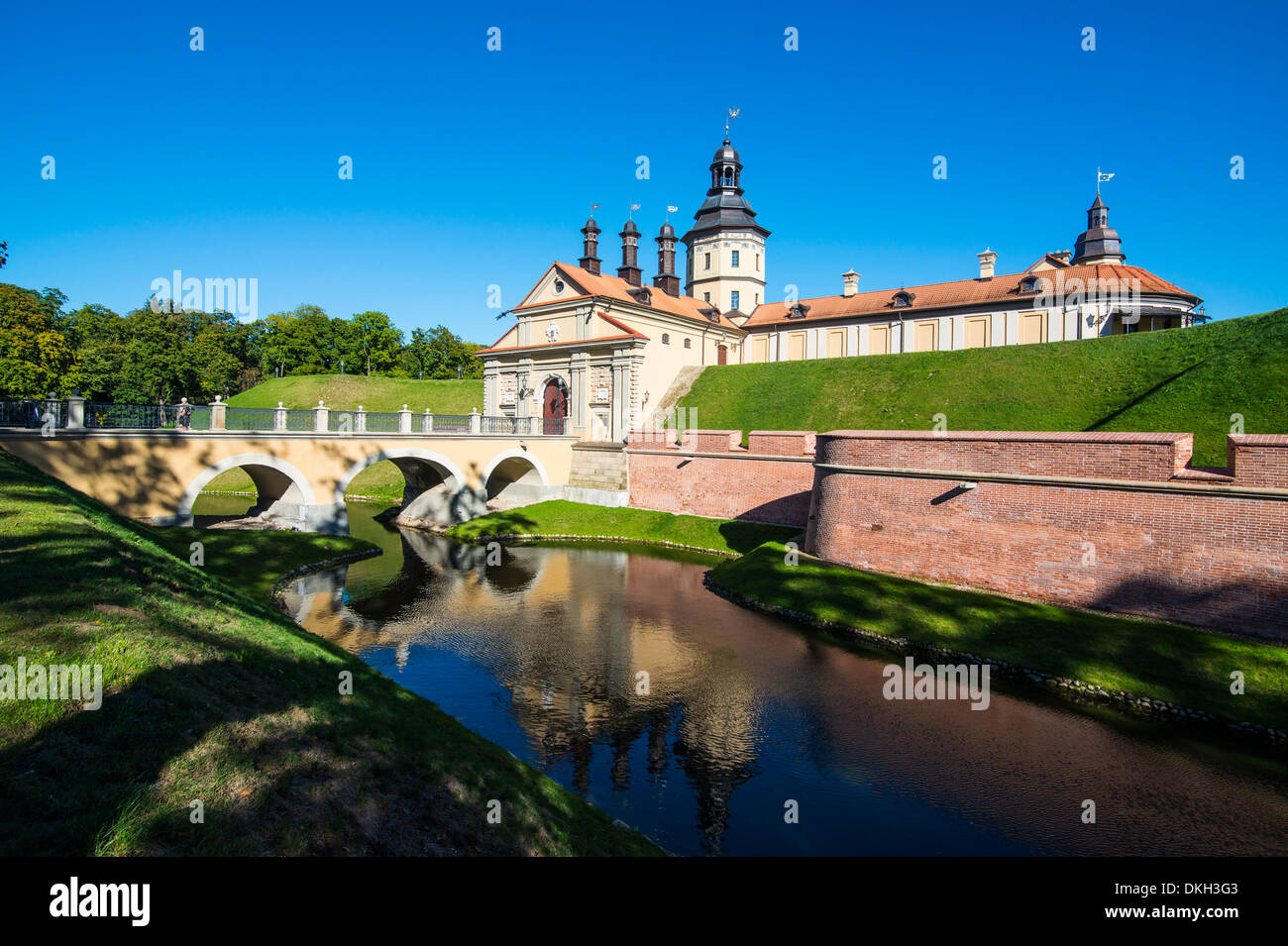 Nesvizh Castle, UNESCO World Heritage Site, Belarus, Europe - Stock Image
