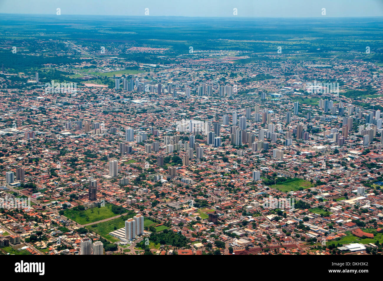 Aerials of Campo Grande, Brazil, South America - Stock Image