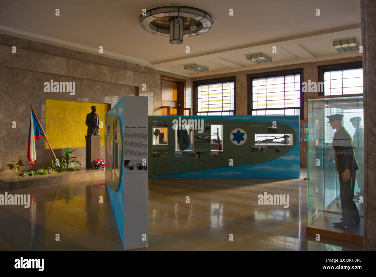 Armadni muzeum the military museum of Czechoslovakia Zizkov district Prague Czech Republic Europe - Stock Image