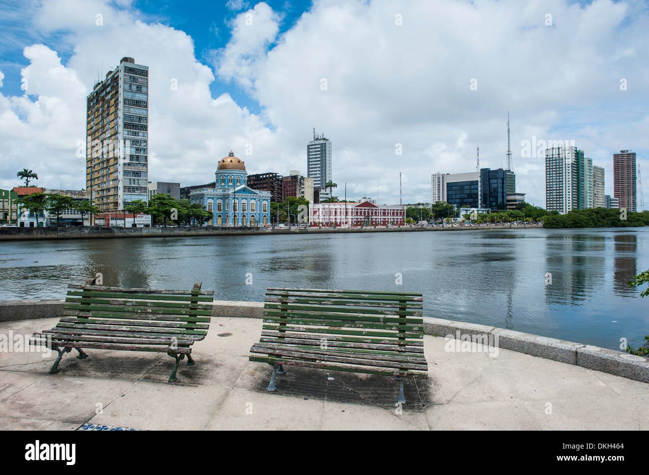 Historicla waterfront of Recife, Pernambuco, Brazil, South America - Stock Image