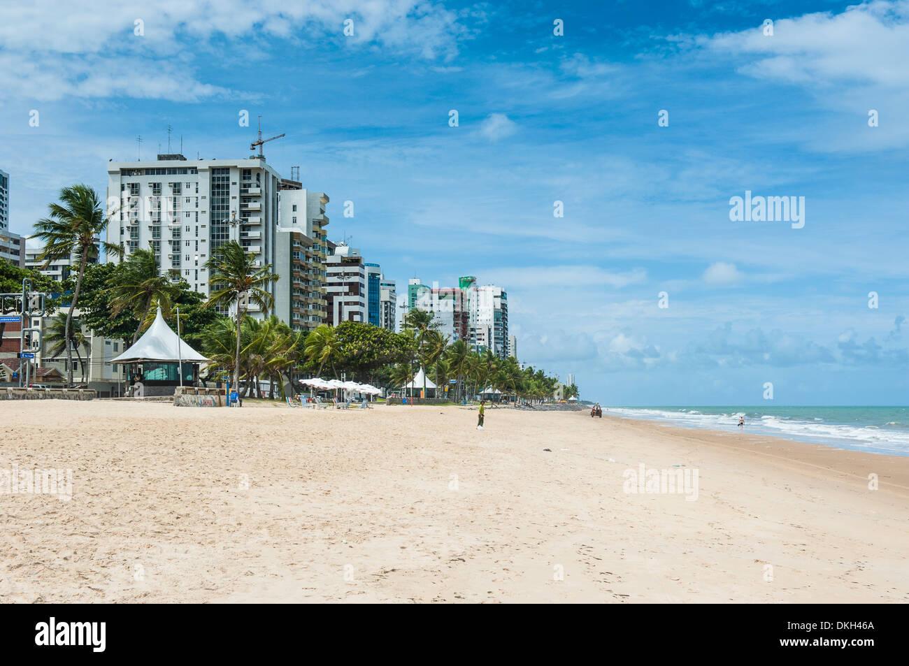 Boa Viagem Beach, Recife, Pernambuco, Brazil, South America - Stock Image