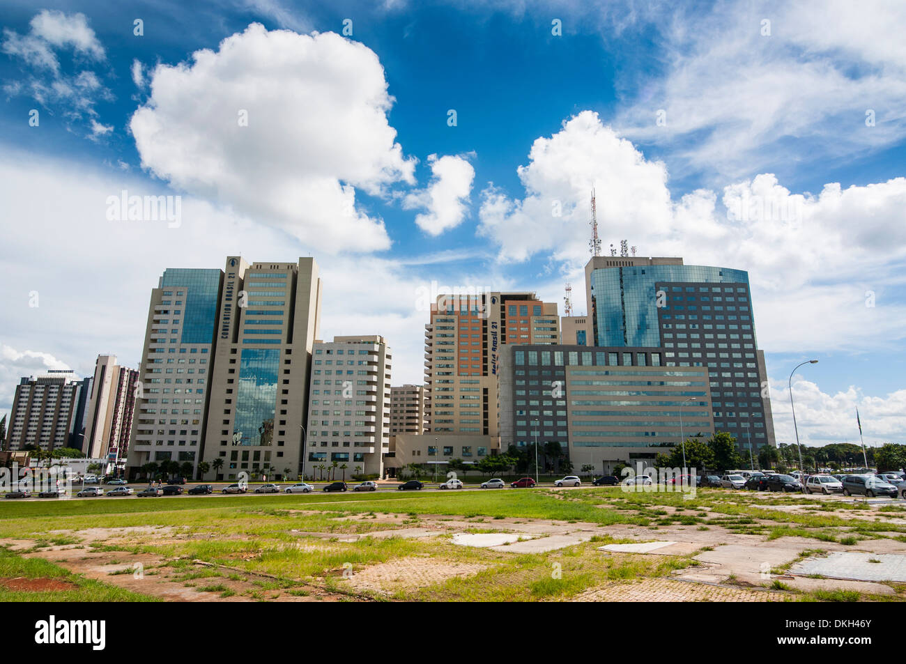 High rise buildings in the center of Brasilia, Brazil, South America - Stock Image
