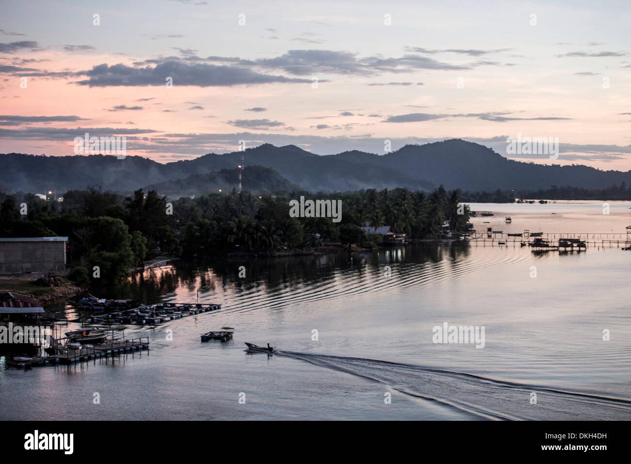 Mengkabong river, Tuaran, Kota Kinabalu, Sabah, Malaysian Borneo, Malaysia, Southeast Asia, Asia - Stock Image