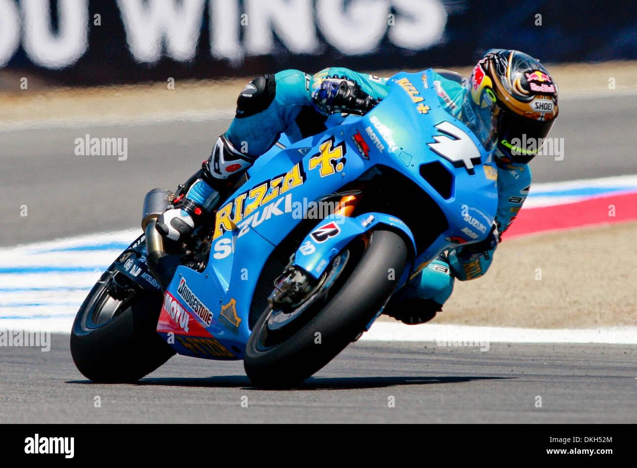 July 04, 2009 - Monterey, California, U.S - 04 July 2009: Chris Vermeulen, of Brisbane, Australia, rides the #7Stock Photo