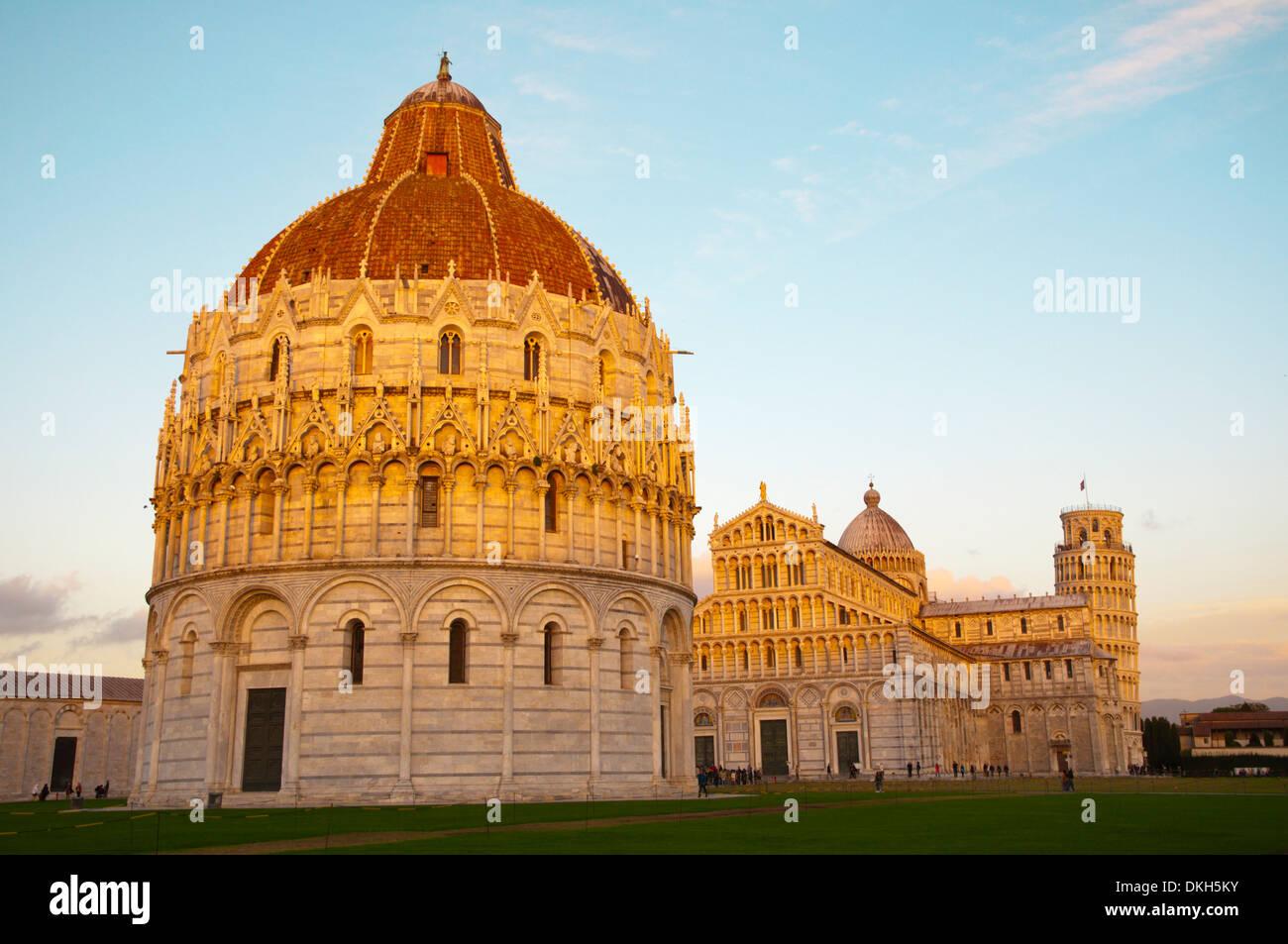Campo dei Miracoli the field of miracles Pisa city Tuscany region Italy Europe - Stock Image